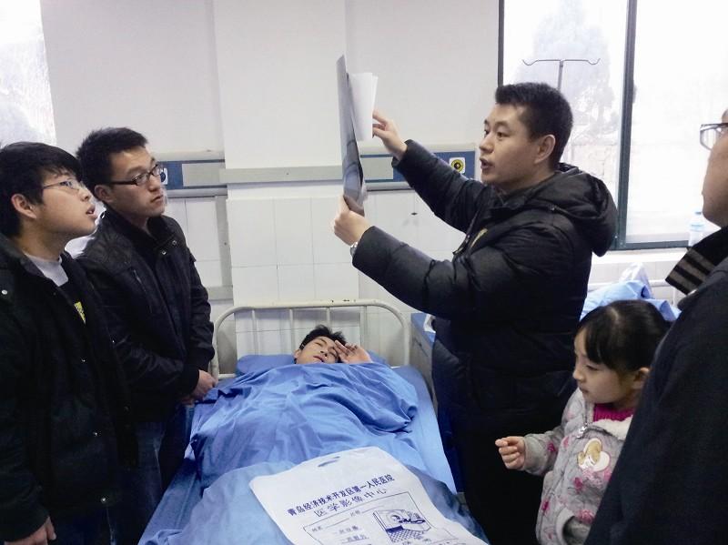 记者在原黄岛区卫生局见到了事件的主人公