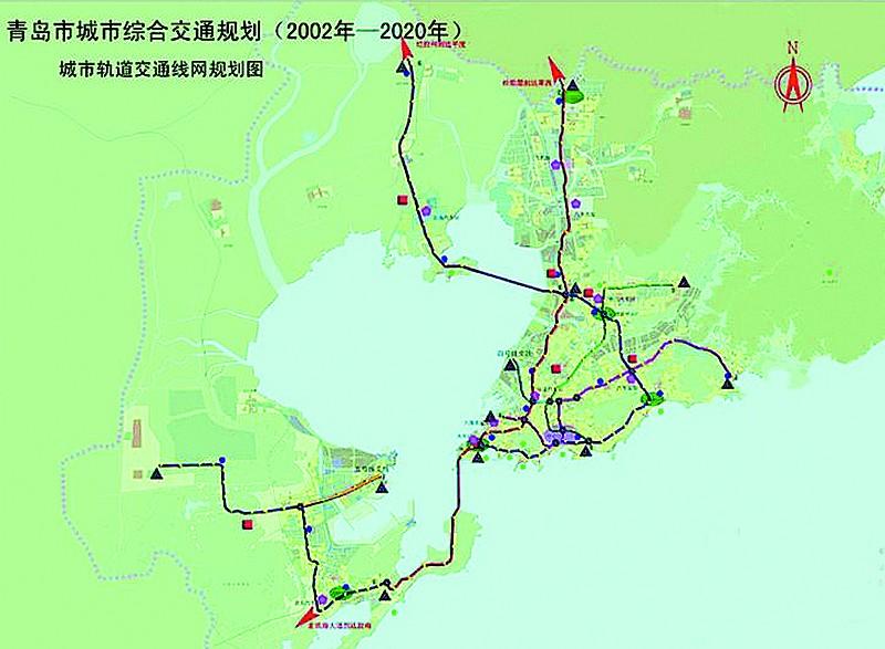 青岛黄岛地铁线路图 青岛黄岛地铁规划图 青岛m1地铁线路图