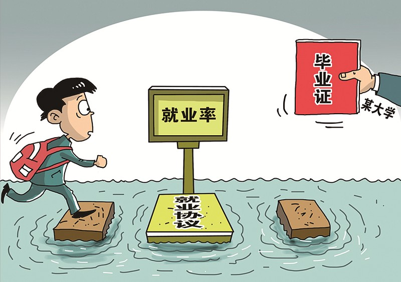 大学生就业率有多少水分?