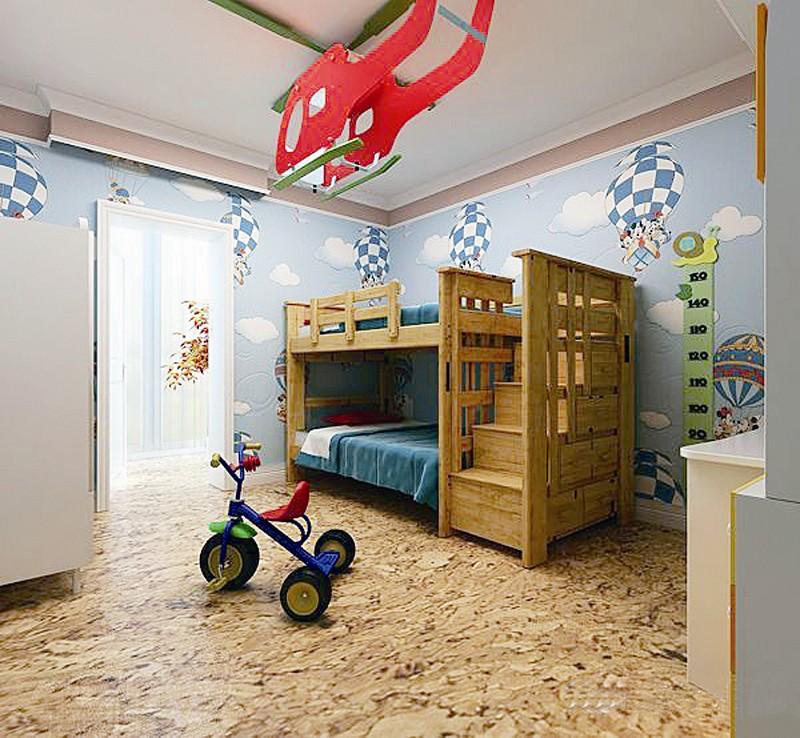 家庭房子装修木材图片